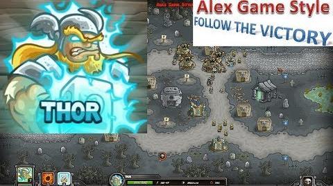 Kingdom Rush HD (Bonus Premium Level 20 Ancient Necropolis) Heroic Hero - Thor