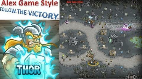 Kingdom Rush HD (Bonus Premium Level 20 Ancient Necropolis) Iron Challenge Hero - Thor