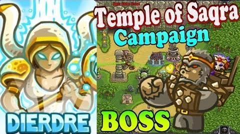 Kingdom Rush Frontiers HD - BOSS Quincon Temple of Saqra Campaign (Level 11) Hero Dierdre