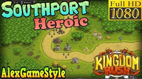 Kingdom Rush HD - Southport Heroic (Level 1) only 3 StarS
