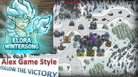Kingdom Rush HD (BOSS Bonus Premium Level 13 Sarelgaz's Lair) Campaign Hero - Elora Wintersong