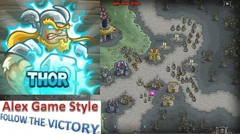 Kingdom Rush HD (Bonus Premium Level 21 Nightfang Swale) Campaign Hero - Thor only 3 StarS