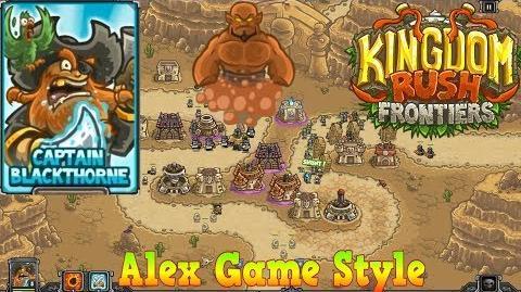 Kingdom Rush Frontiers HD BOSS Nazeru's Gates Campaign Level 6 Hero Captain Blackthorne