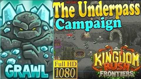 Kingdom Rush Frontiers HD - The Underpass Campaign (Level 12) Hero Grawl