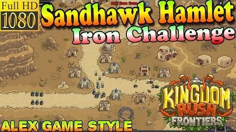 Kingdom Rush Frontiers HD - Sandhawk Hamlet Iron Challenge (Level 2)