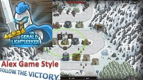 Kingdom Rush HD (Level 7 Coldstep Mines) Campaign Hero - Sir. Gerald Lightseeker only 3 StarS