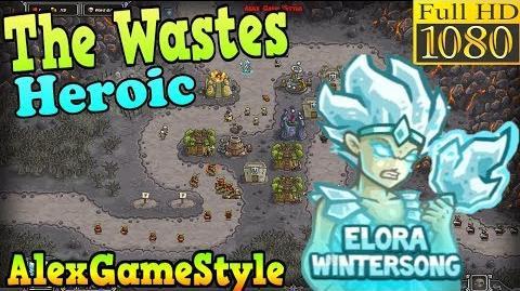 Kingdom Rush HD - The Wastes Heroic (Level 10) Hero - Elora Wintersong