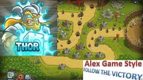 Kingdom Rush HD (Bonus Premium Level 16 Ruins of Acaroth) Iron Challenge Hero - Thor