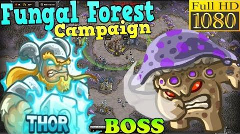 Kingdom Rush HD - BOSS Myconid Fungal Forest Campaign (Level 24) Hero - Thor