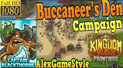 Kingdom Rush Frontiers HD - Buccaneer's Den Campaign (Level 5) Hero Captain Blackthorne