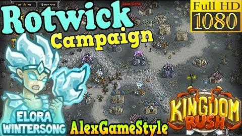 Kingdom Rush HD - Rotwick Campaign (Level 19) Hero - Elora Wintersong only 3 StarS