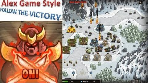 Kingdom Rush HD (Bonus Premium Level 13 Sarelgaz's Lair) Iron Challenge Hero - Oni