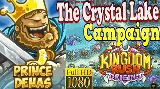 Kingdom Rush Origins HD - The Crystal Lake Campaign (Level 9) Hero Prince Denas