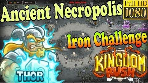 Kingdom Rush HD - Ancient Necropolis Iron Challenge (Level 20) Hero - Thor