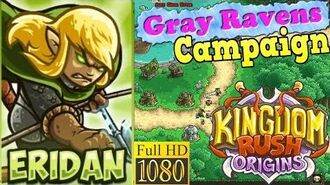 Kingdom Rush Origins HD - Gray Ravens Campaign (Level 1) Hero Eridan