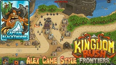 Kingdom Rush Frontiers HD Buccaneer's Den Campaign Level 5 Hero Captain Blackthorne
