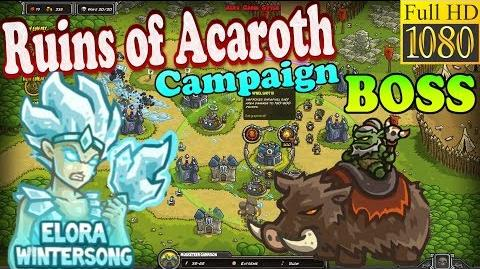 Kingdom Rush HD - BOSS Gul'Thak Ruins of Acaroth Campaign (Level 16) Hero - Elora Wintersong