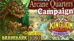 Kingdom Rush Origins HD - Arcane Quarters (Level 13) Hero Bravebark