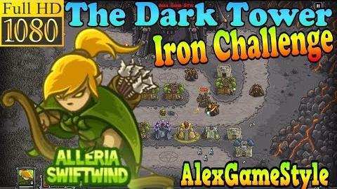 Kingdom Rush HD - The Dark Tower Iron Challenge (Level 12) Hero - Alleria Swiftwind