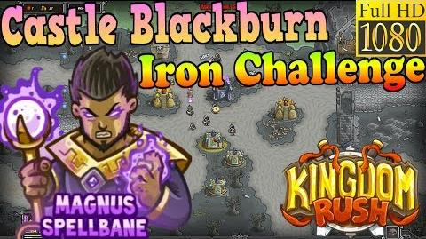 Kingdom Rush HD - Castle Blackburn Iron Challenge (Level 22) Hero - Magnus Spellbane