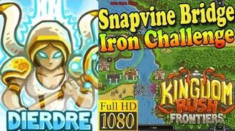 Kingdom Rush Frontiers HD - Snapvine Bridge Iron Challenge (Level 8) - Hero Dierdre