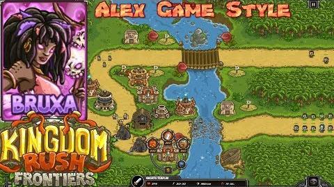 Kingdom Rush Frontiers HD Snapvine Bridge Campaign Level 8 Hero Bruxa