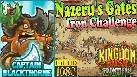 Kingdom Rush Frontiers HD - Nazeru's Gates Iron Challenge (Level 6) - Hero Captain Blackthorne