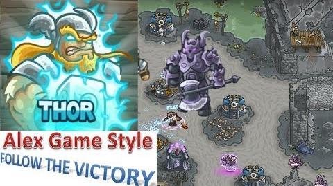 Kingdom Rush HD (BOSS Bonus Premium Level 22 Castle Blackburn) Campaign Hero - Thor only 3 StarS