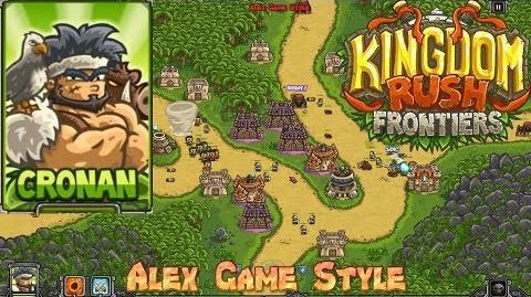 Kingdom Rush Frontiers HD Crimson Valley Campaign Level 7 Hero Cronan