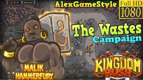 Kingdom Rush HD - The Wastes Campaign (Level 10) Hero - Malik Hammerfury