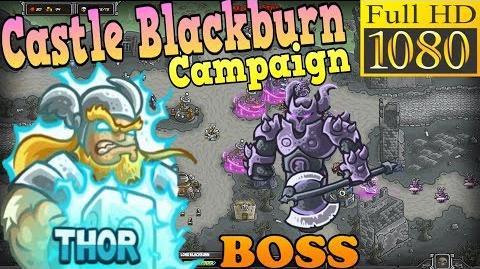 Kingdom Rush HD - BOSS Lord Blackburn Castle Blackburn Campaign (Level 22) Hero - Thor