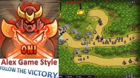 Kingdom Rush HD (Bonus Premium Level 14 Hushwood) Iron Challenge Hero - Oni