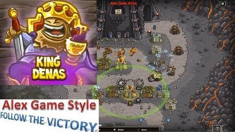 Kingdom Rush HD (Level 12 The Dark Tower) Heroic Hero - King Denas