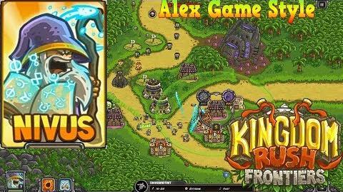 Kingdom Rush Frontiers HD Lost Jungle Campaign Level 9 Hero Nivus