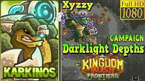 Kingdom Rush Frontiers HD - BOSS Xyzzy - Darklight Depths Campaign Level 19 - Hero Karkinos-0