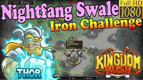 Kingdom Rush HD - Nightfang Swale Iron Challenge (Level 21) Hero - Thor