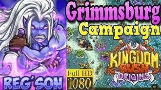 Kingdom Rush Origins HD - Grimmsburg Campaign (Level 8) Hero Reg'son