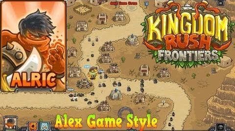 Kingdom Rush Frontiers HD Sandhawk Hamlet Campaign Level 2 Hero Alric