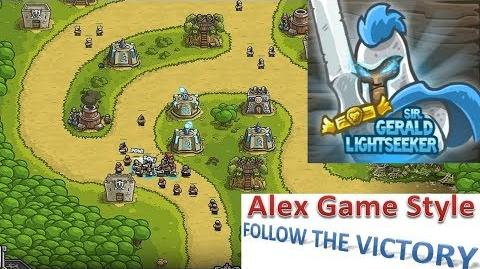 Kingdom Rush HD (Level 5 Silveroak Forest) Campaign Hero - Sir. Gerald Lightseeker only 3 StarS