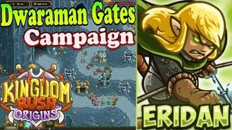 Kingdom Rush Origins HD - Dwaraman Gates Campaign (Level 17) Hero Eridan