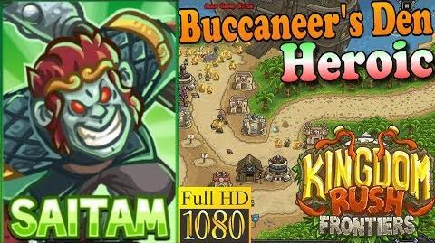 Kingdom Rush Frontiers HD - Buccaneer's Den Heroic - Hero Saitam (Level 5)