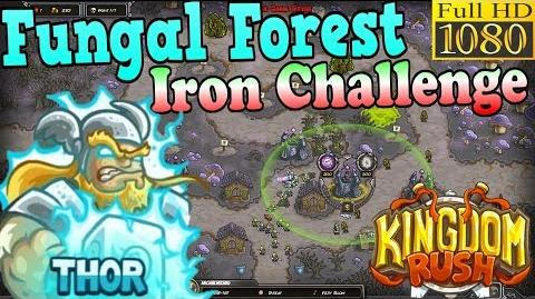 Kingdom Rush HD - Fungal Forest Iron Challenge (Level 24) Hero - Thor