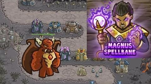 Kingdom Rush HD (Final BOSS Level 12 The Dark Tower) Campaign Hero - Magnus only 3 StarS
