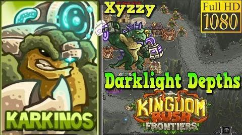 Kingdom Rush Frontiers HD - BOSS Xyzzy - Darklight Depths Campaign Level 19 - Hero Karkinos