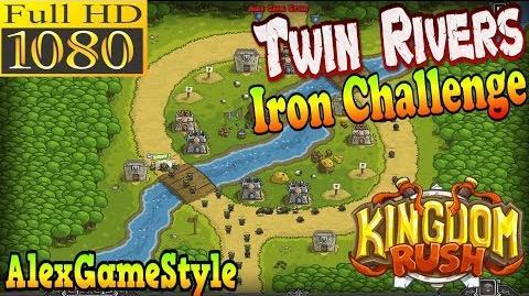 Kingdom Rush HD - Twin Rivers Iron Challenge (Level 4)