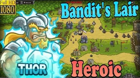 Kingdom Rush HD - Bandit's Lair Heroic (Level 15) Hero - Thor