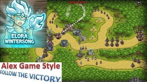 Kingdom Rush HD (Bonus Premium Level 14 Hushwood) Campaign Hero - Elora Wintersong only 3 StarS