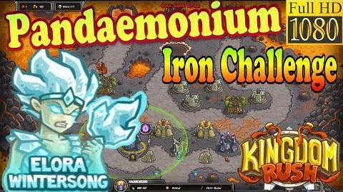 Kingdom Rush HD - Pandaemonium Iron Challenge (Level 26) Hero - Elora Wintersong