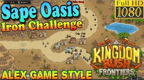 Kingdom Rush Frontiers HD - Sape Oasis Iron Challenge (Level 3)