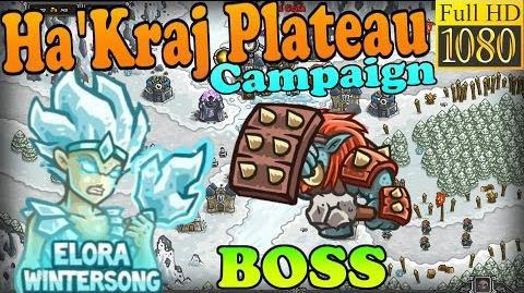 Kingdom Rush HD - BOSS Ulguk-Hai Ha'kraj Plateau Campaign (Level 18) Hero - Elora Wintersong